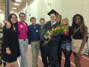 Issak at graduation